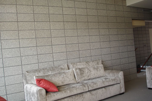 Interior Stack Bonded Walls. Create an Aesthetic Feel To The Interior Of Your Home By Using Honed Masonry